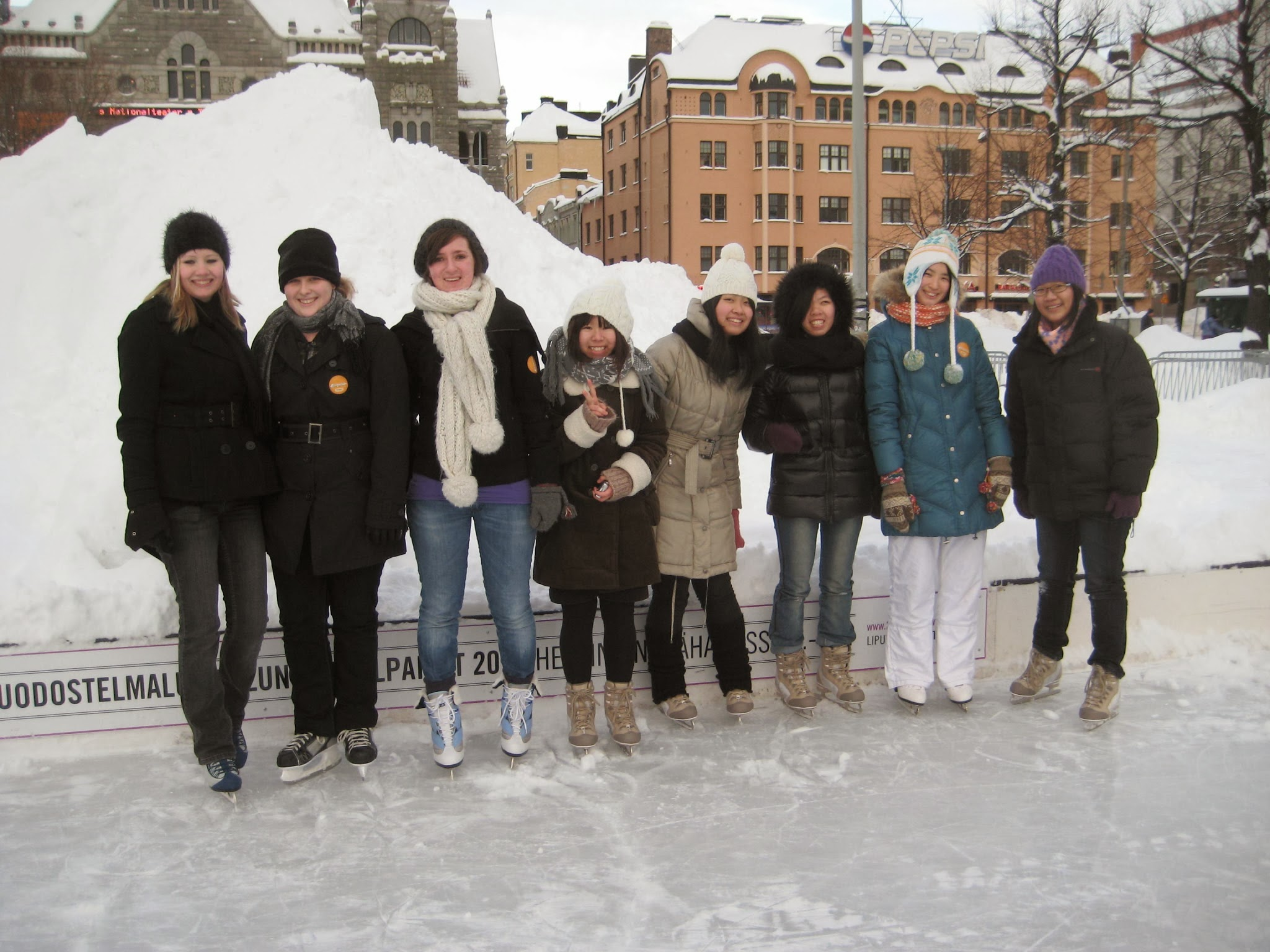 Students playing in Finland